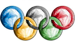 Condom Olympic rings image from www.deadspin.com - click for link