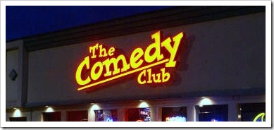 The Comedy Club sign