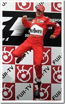 Could F1 fans soon be seeing the famous Schumacher podium victory leap again?