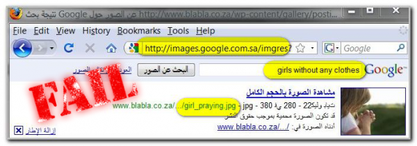 Google Image Search Fails Saudi Surfer