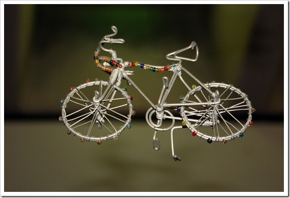 Wire & Bead Bicycle in Soweto (c) Greg Pillhofer, 2010