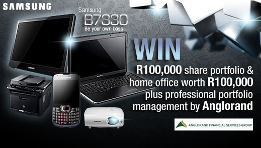 Click here to enter the Samsung Be Your Own Boss Competition and put yourself in line to win R200,000 worth of prizes