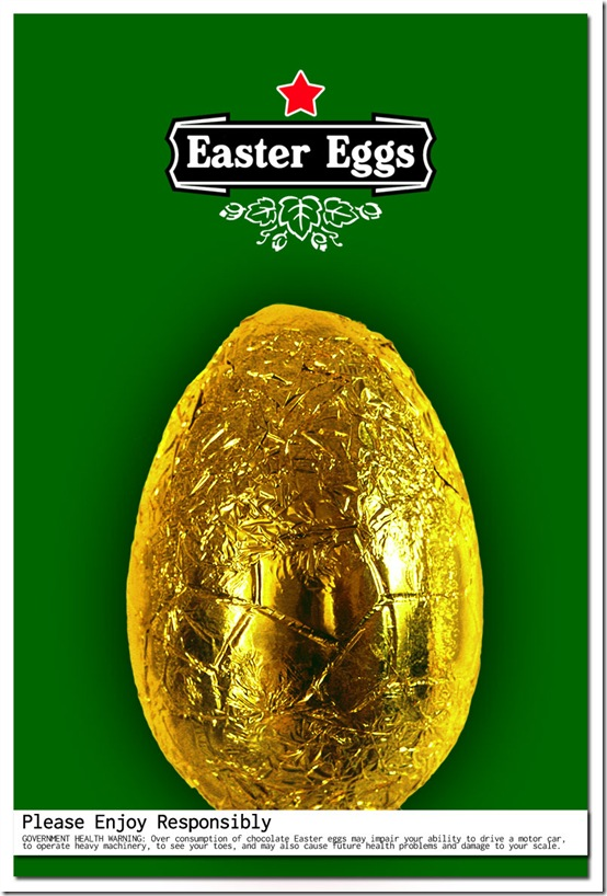 Heinken-style Easter Egg Poster (c) Greg Pillhofer, 2010