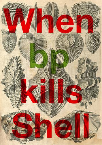 When BP Kills Shell - illustration by Stéphane Massa-Bidal