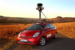 One of the fleet of Toyota sponsored Prius vehicles used by Google to Street View South Africa