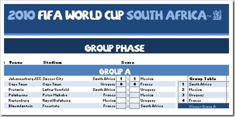 BlaBla's 2010 World Cup Match Tracker