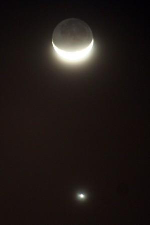 Earthshine & Venus