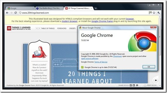 Google Chrome Fail? Click to enlarge.