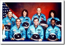 The crew of the Space Shuttle Challenger (c) NASA