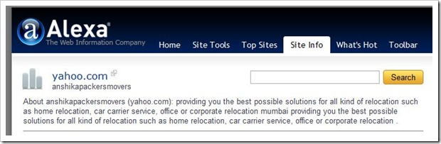 Yahoo.com is anshikapackersmovers in Mumbai, India?