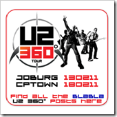 U2 South Africa Pre-Sale Ticket Update