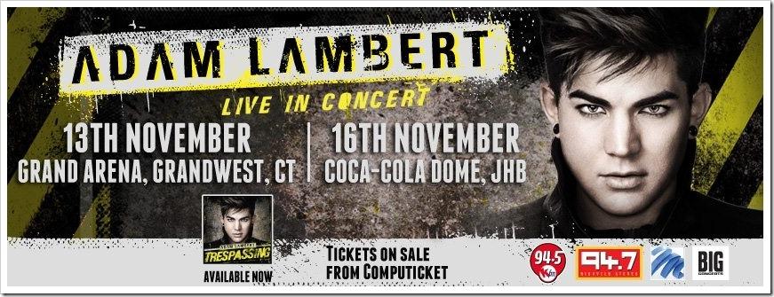 Adam Lambert live in South Africa